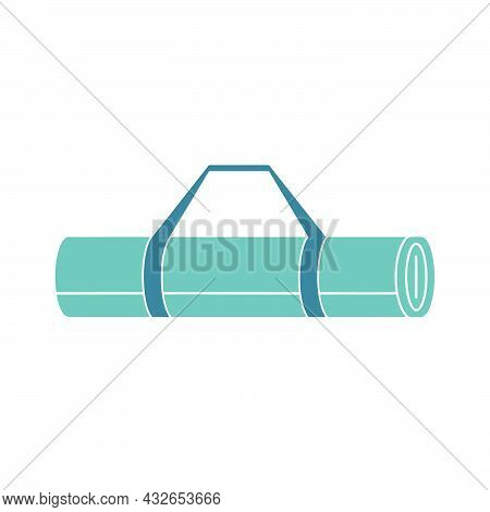 Yoga Mat Icon Isolated On White Background From Fitness Collection. Yoga Mat Icon Symbol For Logo, W