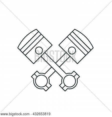 Piston Icon Isolated On White Background From Auto Racing Collection. Piston Icon Piston Symbol For