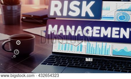 Risk Management And Assessment For Business Investment Conceptual . Modern Graphic Interface Showing