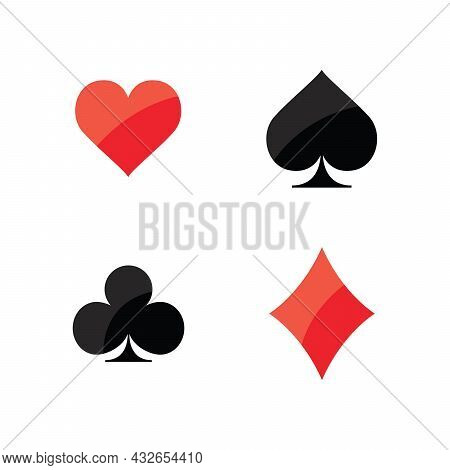 Four Aces Playing Cards. Vector Illustration White