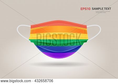 Medical Respiratory Face Mask Lgbt Rainbow Flag Gay Lesbian Love Parade Pride Festival Coronavirus P