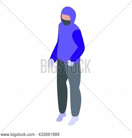 Anonymous Person Icon Isometric Vector. Mystery Man. Unknown People