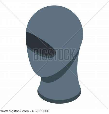 Anonymous Head Mask Icon Isometric Vector. Person Man. Mystery Unknown