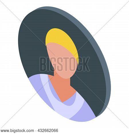 Man Avatar Icon Isometric Vector. Anonymous Person. Online Stranger