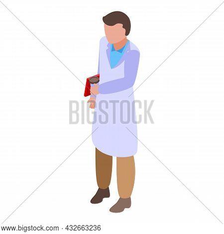 Hospital Doctor Icon Isometric Vector. Care People. Medic Nurse