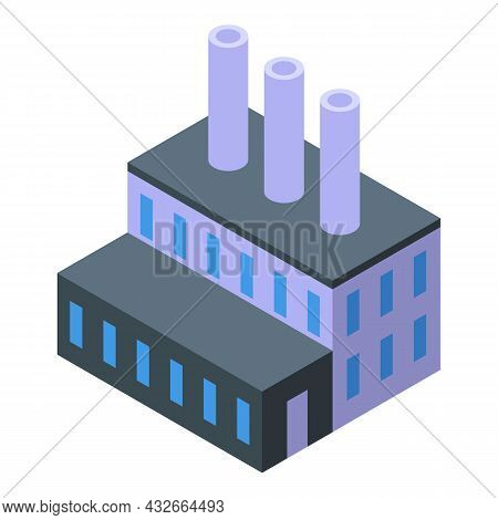 Business Factory Icon Isometric Vector. Industry Plant. Building Production