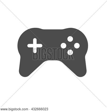 Gamepad Silhouette Vector Icon Isolated On White Background. Joystick Icon For Web, Mobile Apps, Ui