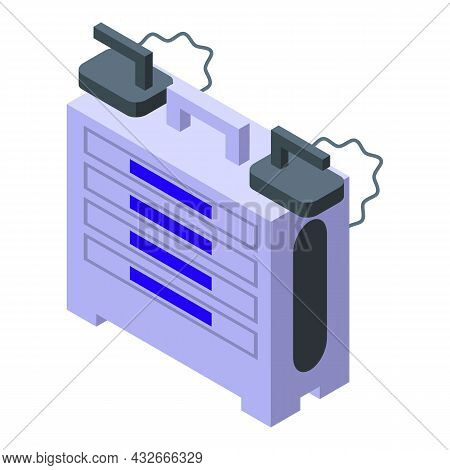 Surgery Defibrillator Icon Isometric Vector. Heart Aed. Cardiac Cpr