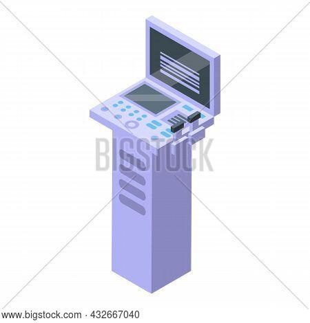 Sonography Examination Icon Isometric Vector. Ultrasound Pregnant. Baby Examination