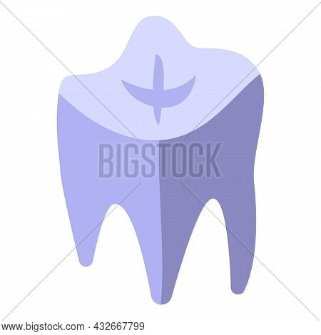 Bioprinting Tooth Icon Isometric Vector. Medical Engineering. Bio Science