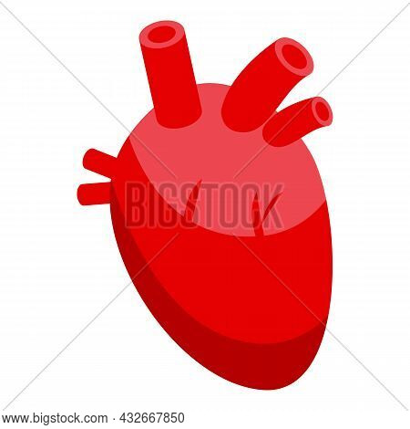 Heart Bioprinting Icon Isometric Vector. Medical Science. Bio Human