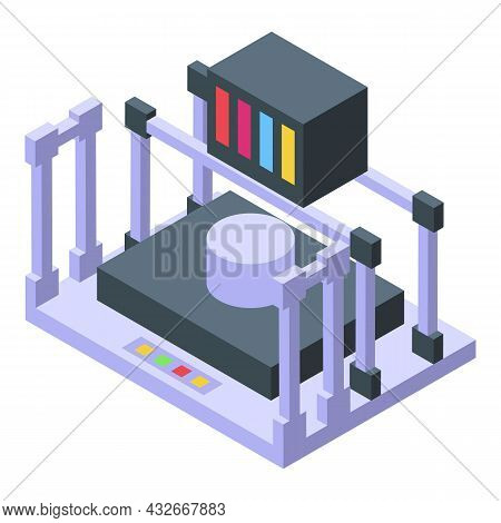 Medical Bioprinting Icon Isometric Vector. Engineering Printer. Bio Science