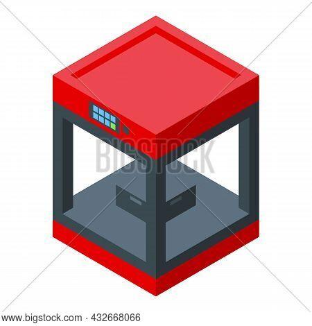 Biotechnology Printer Icon Isometric Vector. Medical Engineering. Human Bioprinting