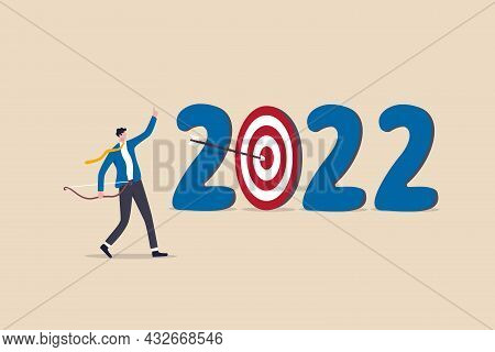 Year 2022 Business Target Or Personal Development Goal, New Year Resolutions, Success Plan Or Career