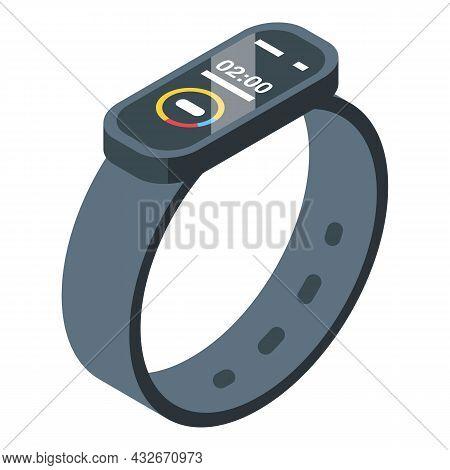 Fitness Bracelet Icon Isometric Vector. Smart Digital. Watch Device