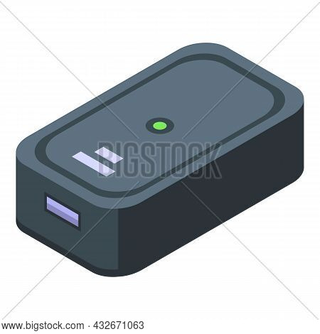Compact Tracker Icon Isometric Vector. Wrist Device. Digital Tracker