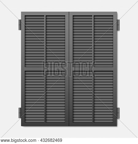 Window Shutter Isolated On A White Background.