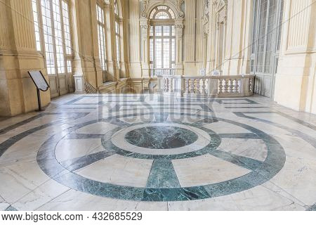 Turin, Italy - Circa June 2021: The Most Beautiful Baroque Hall Of Europe Located In Madama Palace (