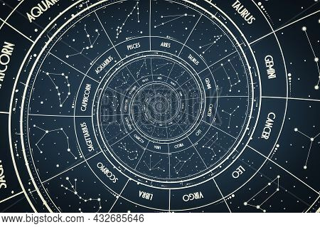 Droste Effect Background. Abstract Design For Concepts Related To Astrology, Fantasy, Time And Magic