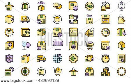 Return Of Goods Icon. Outline Return Of Goods Vector Icon Thin Line Color Flat Isolated On White