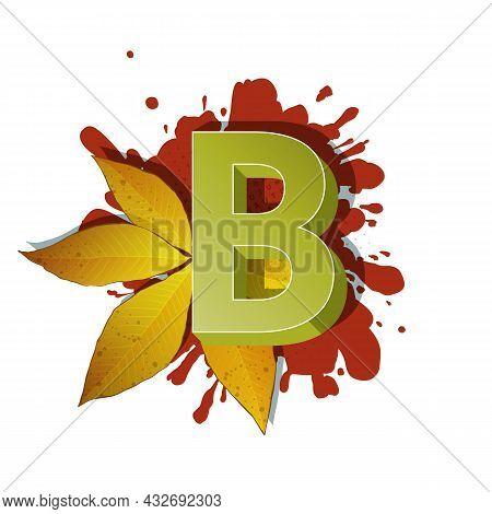 Autumn 3D Pop Art Alphabet - Colorful Bold Letter B