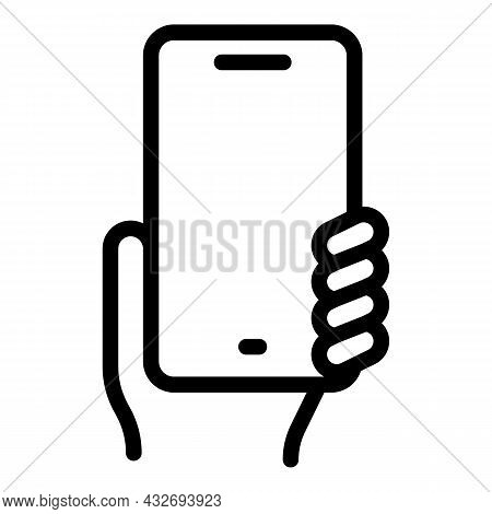 Personal Hand Phone Icon Outline Vector. Mobile Cellphone. Smart Device