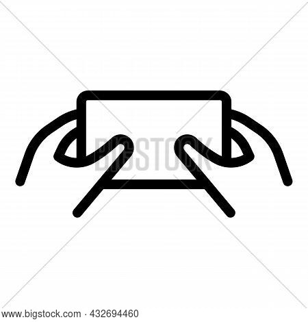 Playing Mobile Phone Icon Outline Vector. Hand Cell. Smartphone Screen