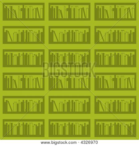 Books On A Shelf Seamless.