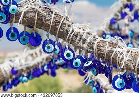Traditional Turkish Amulets From The Evil Eye Are Nazar, Or Blue Eye. Protects From The Evil Eye.