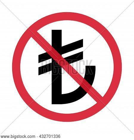 Turkish Lira Money Icon, Tl Financial Business Sign, Cash Economy Symbol Isolated On Background, Vec