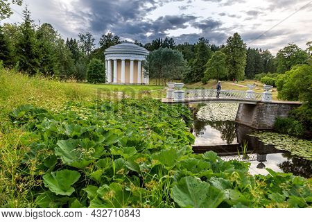 The State Museum-reserve Pavlovsk. St. Petersburg, Russia - July 10, 2019: The Temple Of Friendship