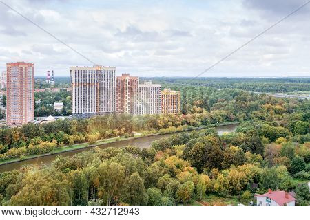 High Rise Apartment Building Exterior Multi-family Residential District Area Development Overcast Fo