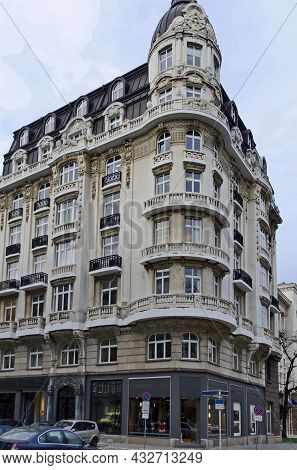 Sofia, Bulgaria - December 03, 2014: Fragments Of Old Beautiful Buildings  In The Center Of The Bulg