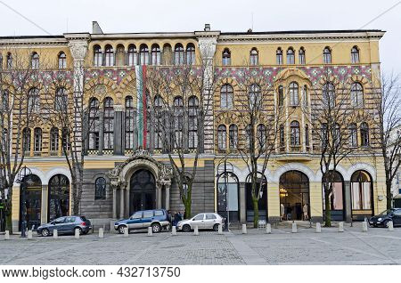 Sofia, Bulgaria - December 03, 2014: Beautiful Building Of The Faculty Of Theology At Sofia Universi