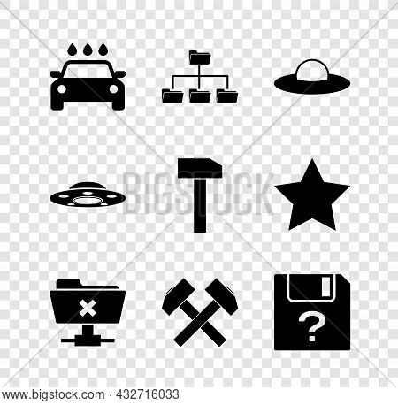 Set Car Wash, Folder Tree, Ufo Flying Spaceship, Ftp Cancel Operation, Two Crossed Hammers And Unkno