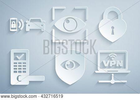Set Shield And Eye, Castle In The Shape Of Heart, Digital Door Lock With Wireless, Vpn Computer Netw