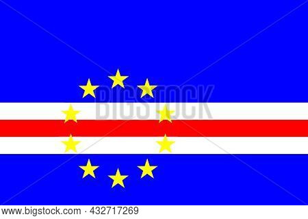 The National Flag Of Cape Verde An Archipelago And Island Country In The Central Atlantic Ocean