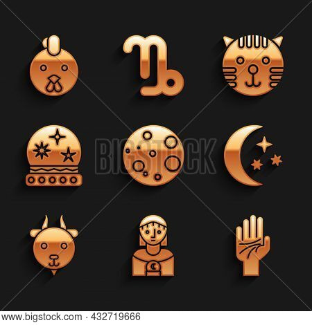 Set Moon, Astrology Woman, Palmistry Of The Hand, Stars, Aries Zodiac, Magic Ball, Tiger And Rooster