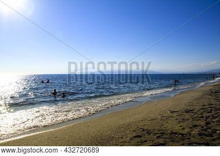 Morning On The Salinas Beach In Cabo De Gata, Almeria, Spain
