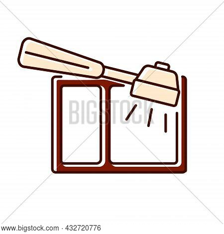 Coffee Knock Box Flat Icon. Container For Dumping Processed Ground. Color Filled Symbol. Isolated Ve