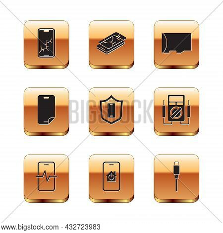 Set Mobile With Broken Screen, Phone Repair Service, Smart Home, Shield, Glass Protector, Micro Sd M