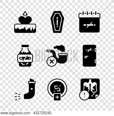 Set Heartbeat Increase, Death From Smoking, No Days, Inhaler, Stop Money Saving, Disease Lungs, Nico