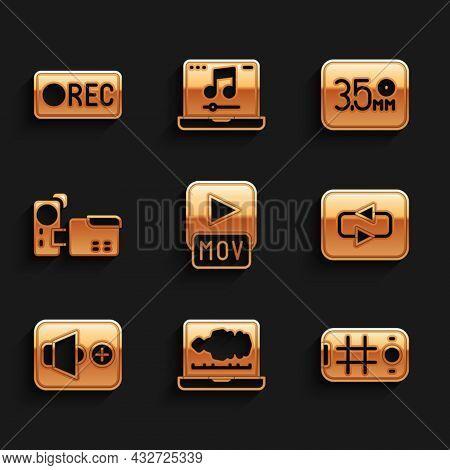 Set Mov File, Sound Or Audio Recorder, Selfie On Mobile, Repeat Button, Speaker Volume, Cinema Camer