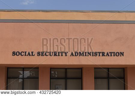 Prescott - Circa September 2021: Social Security Administration Branch. The Ssa Administers Retireme