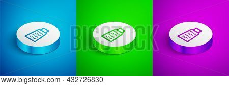 Isometric Line Grater Icon Isolated On Blue, Green And Purple Background. Kitchen Symbol. Cooking Ut