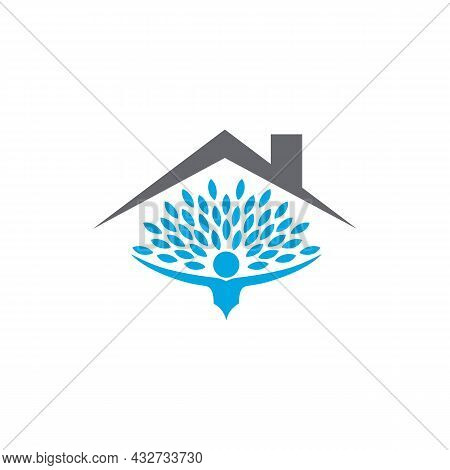 Home Residence Real Estate Logo Icon Flat Vector Concept Graphic Simple Stylish Design