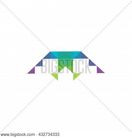 Stylish Letter M Abstract Logo Icon Flat Vector Concept Graphic Simple Stylish Design