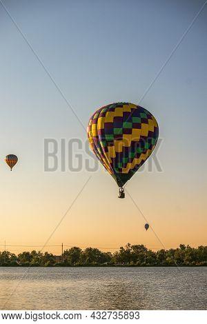 Colorado Springs, Colorado - September 5, 2021: Colorado Springs Balloon Classic 2021 In Memorial Pa