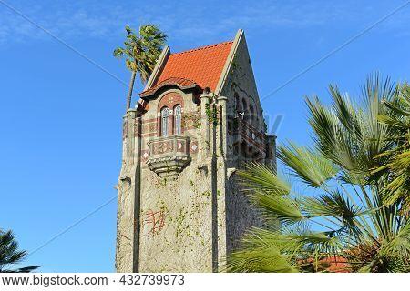 Historic Tower Hall at San Jose State University campus in downtown San Jose, California CA, USA.