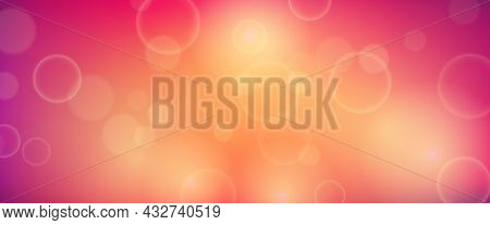 Abstract Background With Blur Bokeh Light Effect. Modern Colorful Circular Blur Light Backdrop. Vect